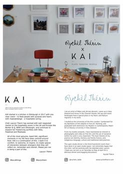 KAI x RYCHÈL THÉRIN Studio Dinner invite