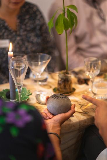 Raku Ipu. one of two ceramic Ipu, 2008.