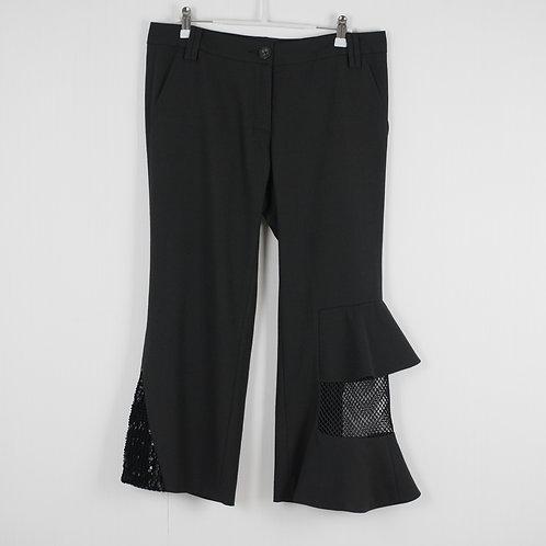 Black Asymmetric Trousers