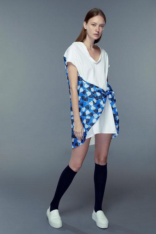 Wrap Around Waist Shirt Dress