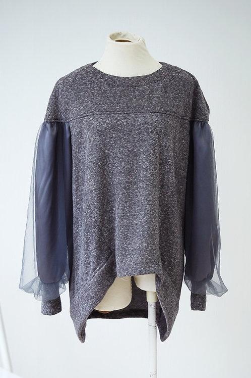 Mesh Sleeve Sweat Shirt