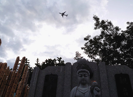 六本木の象寛書道教室が、先週の木曜日ありましたが、その時お参りしました観音様の上には、飛行機が飛んでいましたよ!意外と騒音が大きく、観音様もちょっとうるさそうでした!