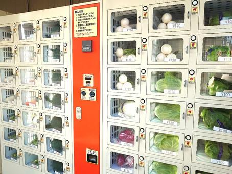 今日は、国分寺の書道教室「書を楽しむ会」の日曜日コースがあったのですが、恋ヶ窪駅から恋ヶ窪公民館に向かう途中に、野菜や卵など新鮮な食品の自動販売機ができていましたよ!