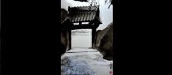 初秋の山門