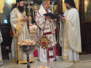 Saint Anargyre name day celebrated with Bishop Porfyrios of Neapolis