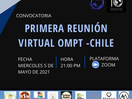 Con éxito se llevó a cabo la primera reunión virtual de la OMPT sede Chile
