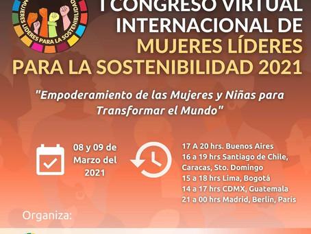 Participación de OMPT Ecuador en el I Congreso Virtual Internacional de Mujeres Líderes  2021