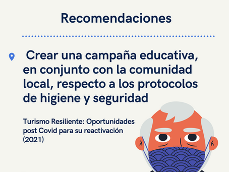 Recomendaciones para la reactivación del turismo post Codiv-19