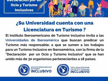 El Instituto Iberoamericano de Turismo Inclusivo en busca de Universidades en Iberoamérica