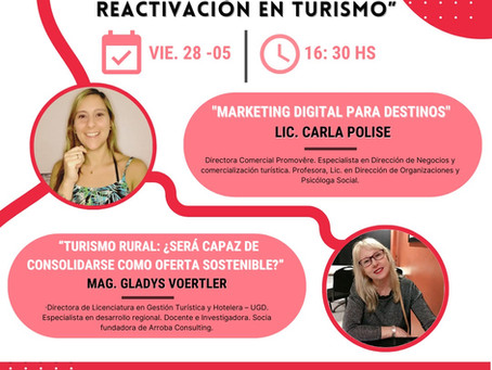 """1er Encuentro del Ciclo de charlas: """"Los desafíos de la reactivación del turismo"""" por FE.TU.R 2021"""