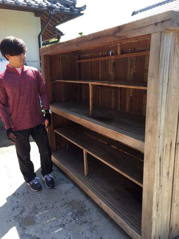 物置棚のアップサイクル1(村井様邸)