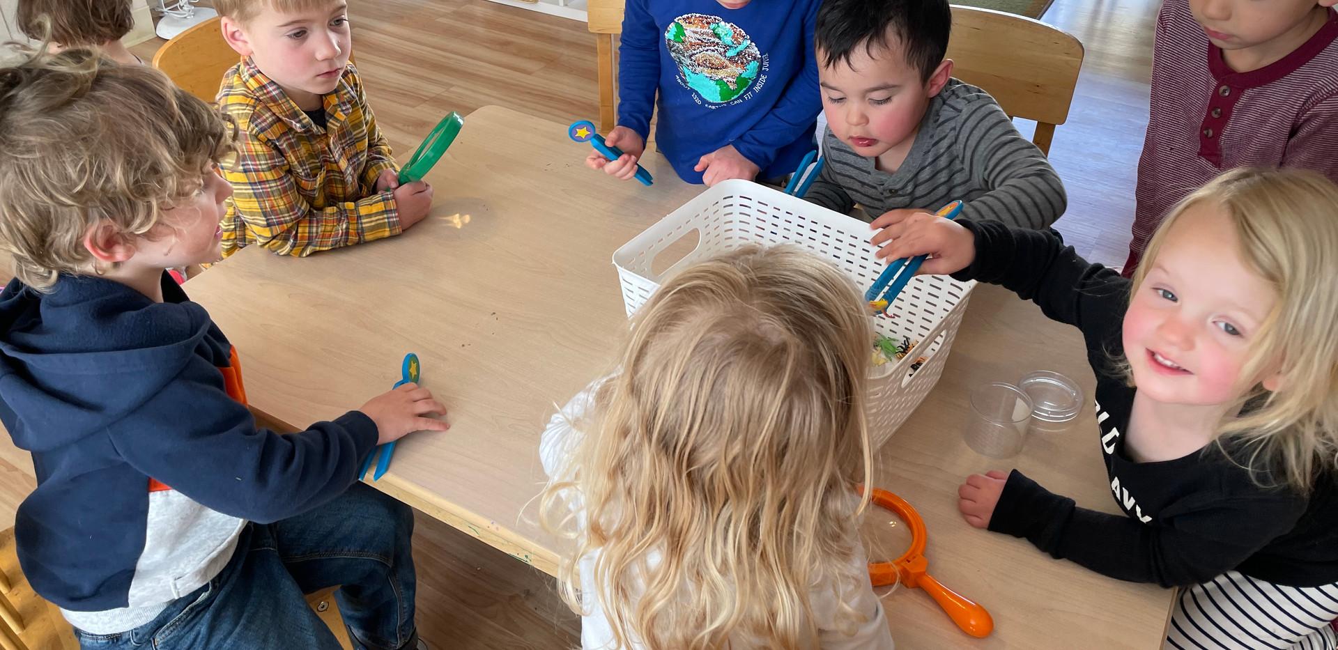 Play tweezers help to  develop  fine  motor skills