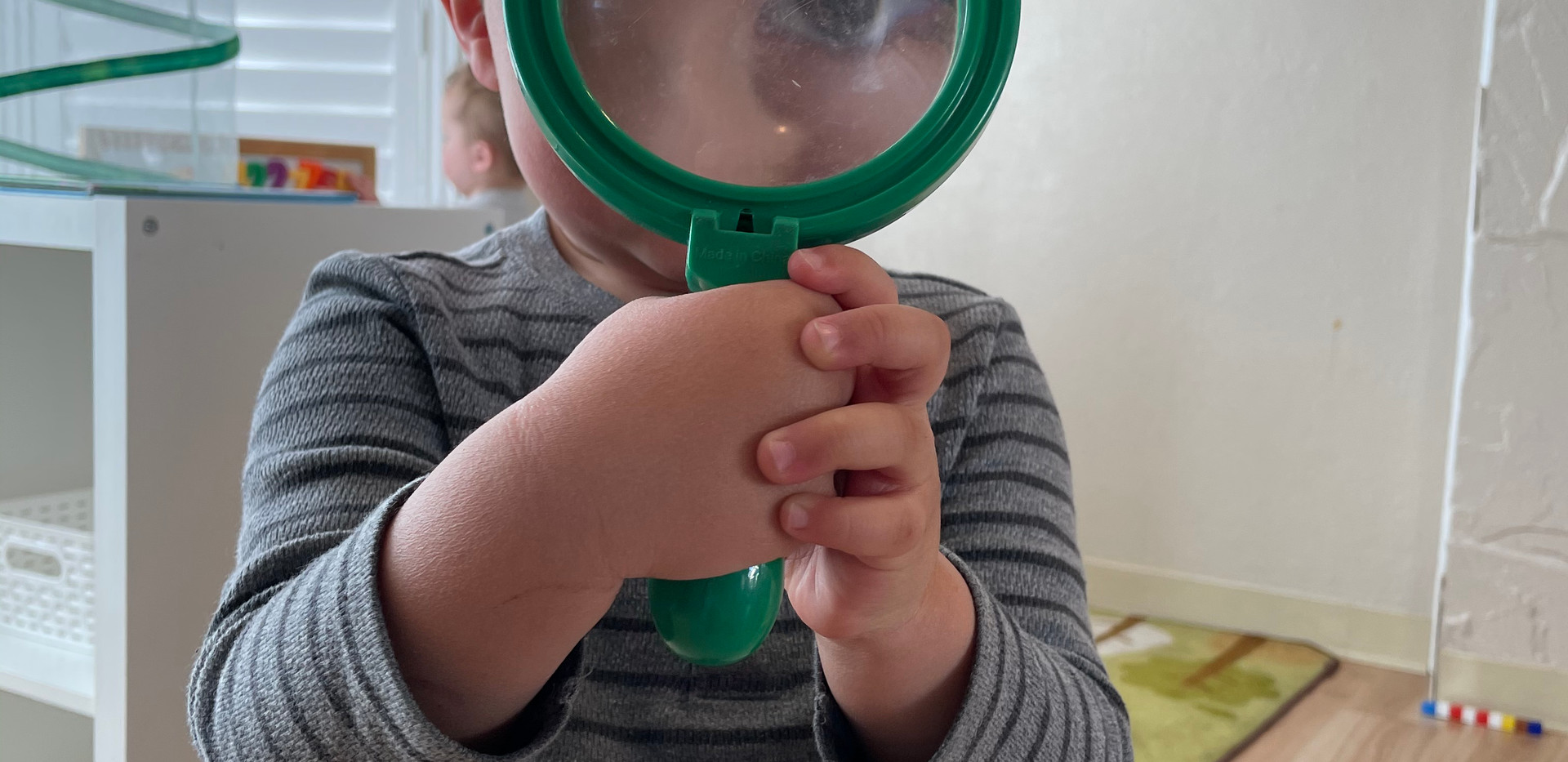 investigating the magnifying glass