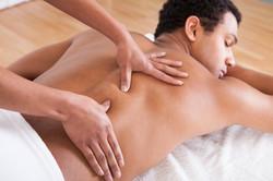 Portrait Of Man Receiving Massage Treatm