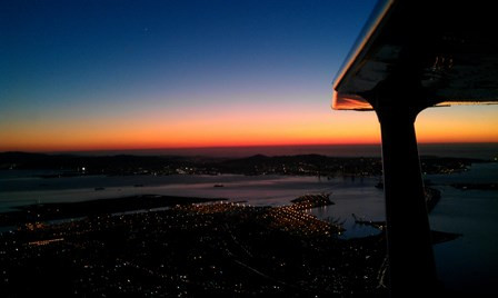 Night Flight over the Bay Area