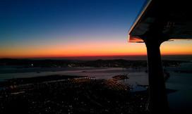 Night Flight over the Bay Area