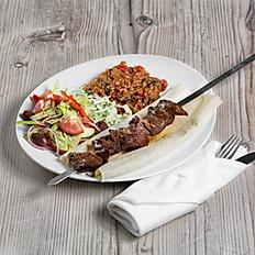 Beef Tenderloin Kebab Plate