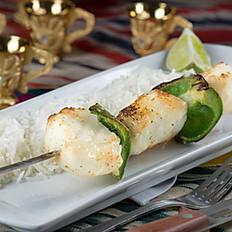 Chilean seabass kebab