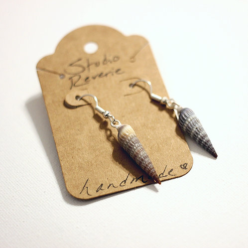 Spiral Seashell Dangle Earrings