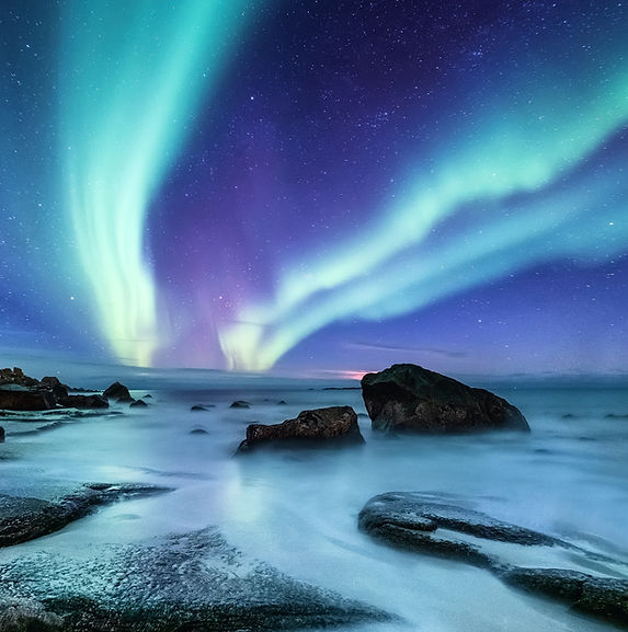 Aurora borealis on the Lofoten islands,