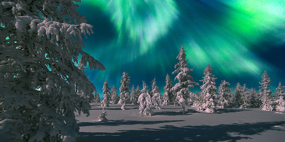 Northern Lights - Aurora borealis over s