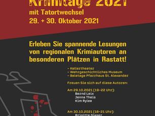 Rastatter Krimitage am 29.10.21 + 30.10.21
