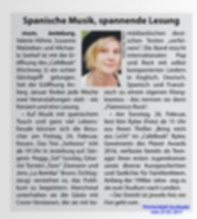 Bild Pressebericht über Kim Rylee Lesung in Jesteburg