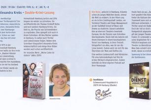 Double-Krimi-Lesung mit Alexandra Krebs am 27.03.2020 - 19:00 Uhr