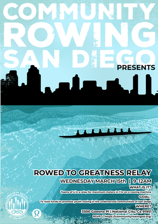 Community Rowing-San Diego-Wee.design Poster