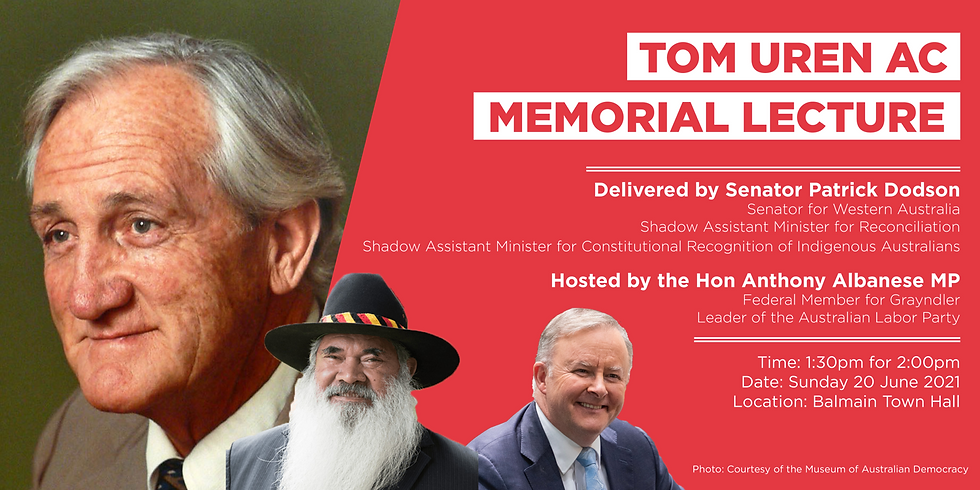 Tom Uren AC Memorial Lecture