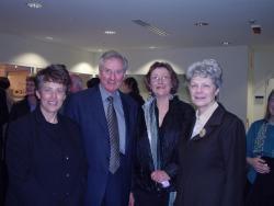 Melissa Boyde, Bruce Childs, Jeannette McHugh & the Vice-Chancellor of Flinders University, Anne Edwards
