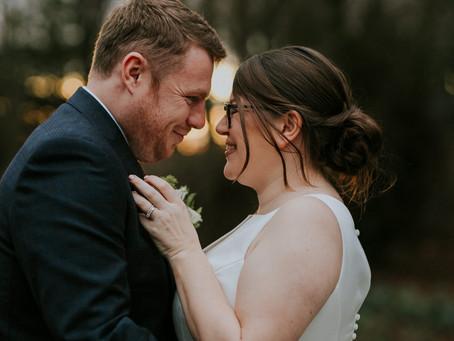 Faye & Chris's Festive Wedding at Shotton Grange.