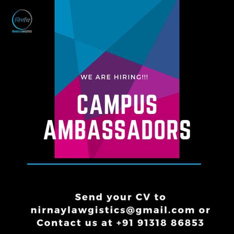 Campus Ambassador Internship By Nirnay Lawgistics