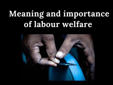 Meaning and importance of Labour welfare