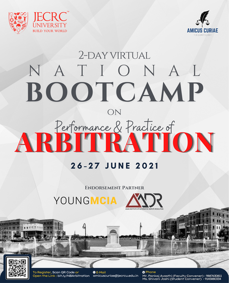 JECRC University Present National Bootcamp on Arbitration