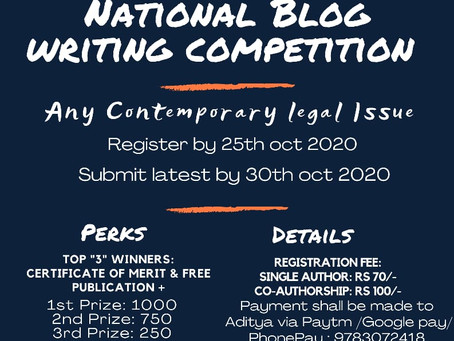 National Blog Writing Competition