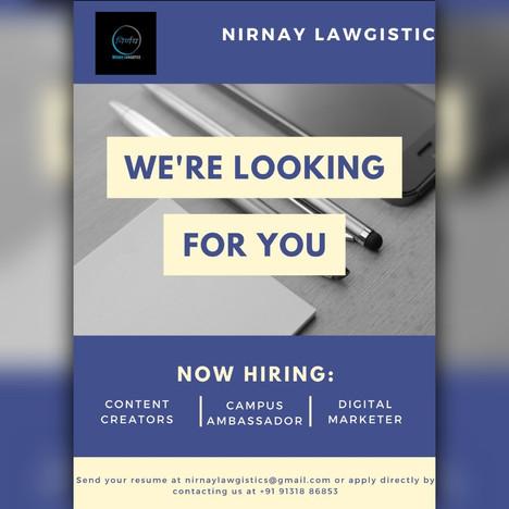 Internship at Nirnay Lawgistics