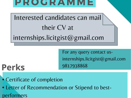 Summer Internship Programme By LicitGist