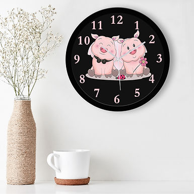 WENS Teddy Love Silent Non-Ticking Battery Operated Kids Wall Clock