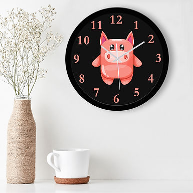 WENS Adorable Cartoon Silent Non-Ticking Battery Operated Kids Wall Clock