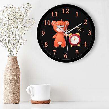 WENS Cute Cartoon Silent Non-Ticking Battery Operated Kids Wall Clock