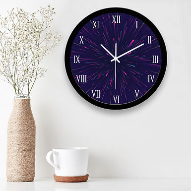 WENS Abstarct Silent Non-Ticking Battery Operated Wall Clock  ( 29 Cm x 29 Cm)