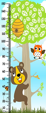 WENS Cute Caterpillar Height Measurement Removable Wall Sticker