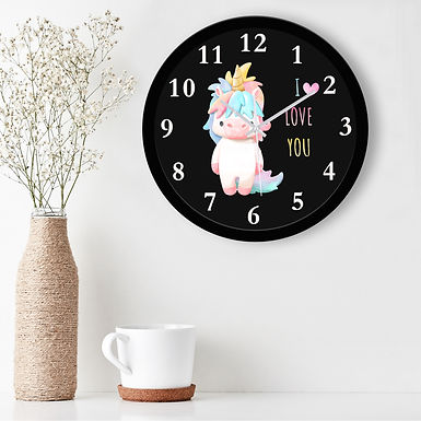 WENS Love U Silent Non-Ticking Battery Operated Kids Wall Clock