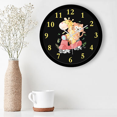 WENS Friendship Ride Silent Non-Ticking Battery Operated Kids Wall Clock