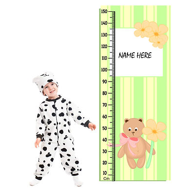 WENS Bear Height Measurement Removable Wall Sticker