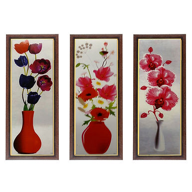 WENS Beautiful Flower With Pot Wall Painting
