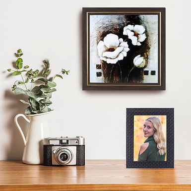 WENS Wall Mounted & Table Photo Frame With Acylic Glass -Brown
