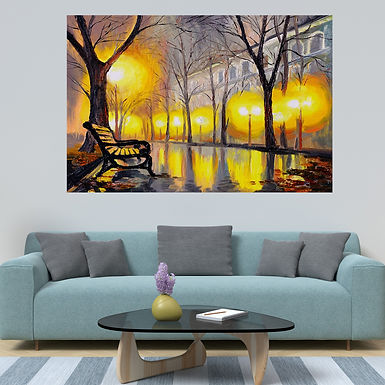 """""""WENS """"""""Modern City Landscape"""""""" Self Adhesive Wall Poster for Home Decor(Vinyl,"""