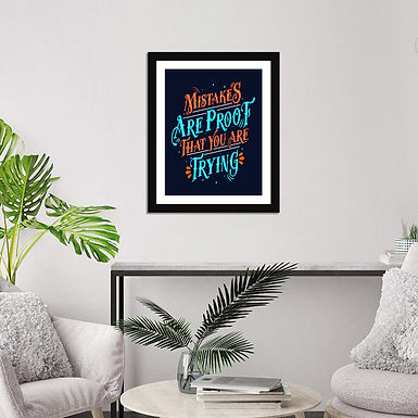 """Multicolor 14X17 Inch Framed  """"Inspirational Quotes """" with Front Acyclic Glass"""